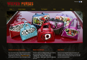 Visit the wicked purses website